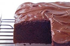 Quick Mix Chocolate Cake. Create an easy classic with maximum flavour.  Melted butter, to grease   270g (1 1/3 cups, firmly packed) brown sugar   185ml (3/4 cup) milk   125g butter, cubed   50g (1/2 cup) cocoa powder   1/4 teaspoon bicarbonate of soda   150g (1 cup) self-raising flour   2 tablespoons plain flour   3 eggs, lightly whisked