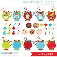 Clipart Combo Hot Chocolate / Christmas Clip от MyClipArtStore