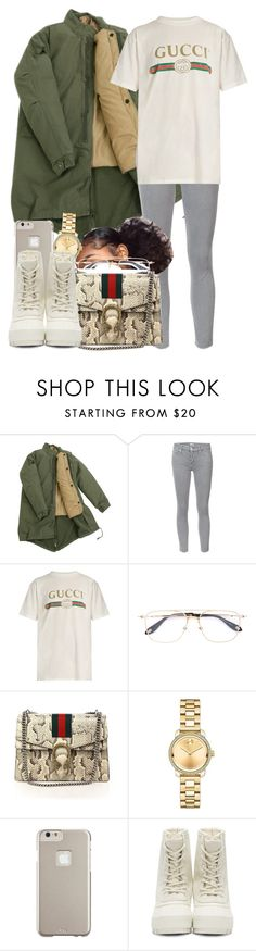 """""""12/20/16"""" by jasmineharper ❤ liked on Polyvore featuring Mother, Gucci, Givenchy, Movado, Case-Mate and adidas Originals"""