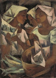View Tuyo Vendors (Dried Fish Vendors) By Anita Magsaysay-Ho; oil on canvas; Access more artwork lots and estimated & realized auction prices on MutualArt. Arte Filipino, Archetypes, Image Photography, Figurative Art, Black Art, Philippines, Oil On Canvas, Culture, Fish