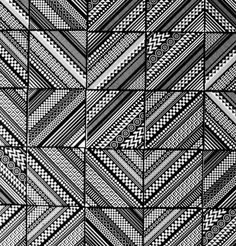 Geometric ceramic tiles by Matt W. Moore.