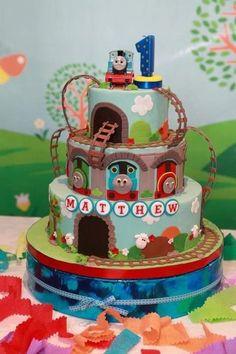 thomas the tank engine - by cupcakerocks @ CakesDecor.com - cake decorating website