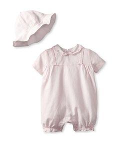 Emile et Rose Baby Girl Romper & Hat Set
