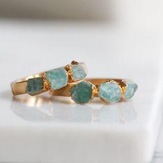 bague en Amazonite / Pierre Turquoise Bague / anneau de jade / naturel anneau de pierre / turquoise Bague / anneau d