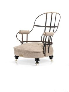 The Eclectic Victorian Iron Back Chair. Antique And Vintage by Rhubarb Chairs Furniture Making, Home Furniture, Victorian Irons, Vintage Style, Vintage Fashion, Hand Wax, Historical Art, Accent Chairs, Armchair