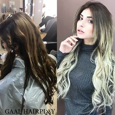 From dark to blonde, great balayage ! Realized with #pravana check our FB : https://m.facebook.com/gaalhair/