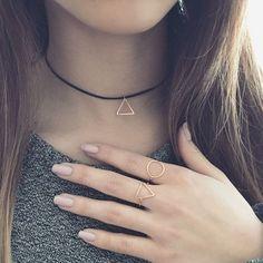 Triangle choker necklace – Imsmistyle.