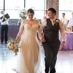 White Ivory Plus Size Wedding Dress Lace Chiffon Bridal Gown Custom Size 16 18
