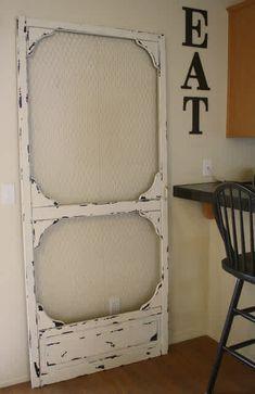 door14 Old Screen Doors, Old Doors, Screen Door Pantry, Vintage Screen Doors, Diy Screen Door, Painted Furniture, Diy Furniture, Furniture Plans, System Furniture
