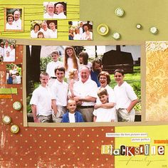 Enlarge the Main Photo on a Family Scrapbook Page