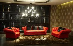 leather living room furniture in a room with amazing decor