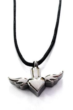 Winged Heart Pendant #Necklace Urn + Kit