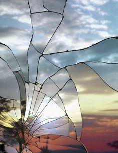 Broken Mirror/Evening Sky (Ektachrome), 2012, Archival Inkjet Print, 70-3/4 x 56-5/8 inches