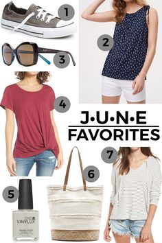 Today I'm putting together my June Favorites. These are some of my favorite new finds or older tried-and-true products that I'm particularly loving right now.