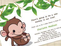 Cute Monkey Baby Shower Invitations (15) | Best Invitations