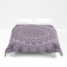 Purple Floral Mandala Comforter by David Zydd Classic Home Decor, Cute Home Decor, Cheap Home Decor, Home Decoration, Mandala Comforter, Mandala Duvet Cover, Home Decor Quotes, Home Decor Pictures, Cosy Bedroom