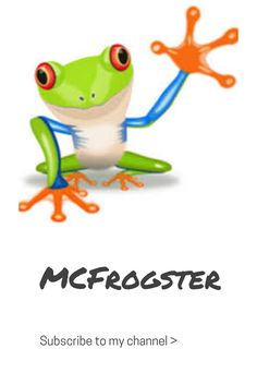 Go subscribe to my channel MCFrogster for awesome videos, including gaming, vlogs, music covers and more!!!