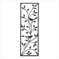 Wrought Iron Wall Panels | Wrought Iron Songbird Wall Panel
