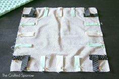 (diy tutorial) taggie blanket baby shower gift