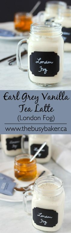 Earl Grey Vanilla Tea Latte (London Fog) The best homemade London Fog recipe ever! So healthy and delicious, and all natural! The Busy Baker: Earl Grey Vanilla Tea Latte (London Fog) Non Alcoholic Drinks, Fun Drinks, Yummy Drinks, Healthy Drinks, Yummy Food, Beverages, Tasty, Holiday Drinks, Kiwi Smoothie