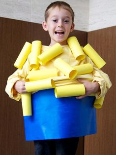 The Halloween experts at DIY Network have instructions on how to make a homemade macaroni-and-cheese costume.