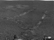 NASA's Mars rover Curiosity has begun driving from its landing site, which scientists announced today they have named for the late author Ray Bradbury.