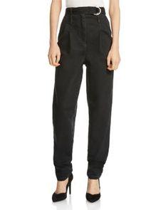 Maje Parisso Tapered Jeans in Black | bloomingdales.com