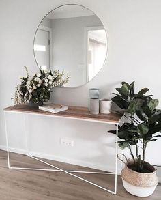 Top Diy Ideas: Warm Minimalist Home Office Spaces rustic minimalist home bathroom sinks.Minimalist Home Entrance Entryway minimalist interior style floors.Simple Minimalist Home Gray. Decoration Hall, Entrance Decor, Modern Entrance, Modern Entryway, House Entrance, Hall Way Decor, Apartment Entrance, Entrance Table, Modern Closet