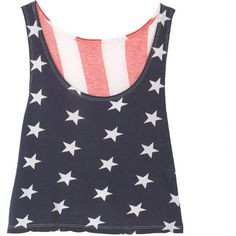 American Flag Crop Tank ($20) found on Polyvore