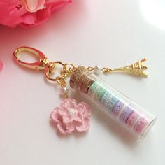 Mini macaron planner charm/purse charm bottled baby by mahalmade