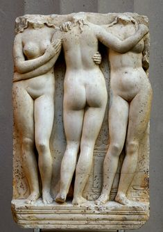 Marble relief of the Three Graces. Marble. 2nd century CE. Inv. No. L.2013.17. New York, the Metropolitan Museum of Art. (Photo by I. Sh.).