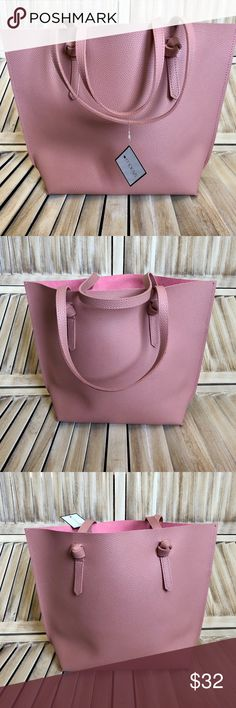 c45b5709b4c8 ❤️HOST PICK❤ Macy s Pink Leather Tote - NWT This is a Brand New