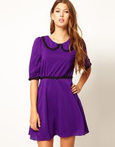 Max C Dress With Contrast Bead Detail