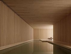 The Hardt Private house by David Chipperfield Private House by David Chipperfield Architects Architecture Decor Design Interior Design Minimal Modern patterns Wood UK pool David Chipperfield Image of Private house by David Chipperfield David Chipperfield Architects, Moderne Pools, Wood Architecture, Architecture Interiors, Architecture Diagrams, Architecture Portfolio, Contemporary Architecture, Indoor Swimming Pools, Indoor Pools In Houses