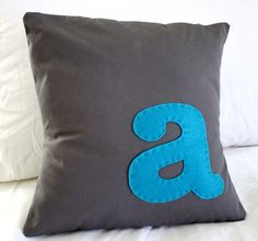 Monogrammed Pillow | The House of Wood #monogram #pillow #nursery
