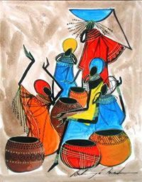 Kenyan-My brother was in the Peace Corps in Kenya-I am sentimental about its artwork.