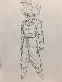 ✔ Anime Dibujos A Lapiz Goku Goku Drawing, Ball Drawing, Hulk Sketch, Anime Sketch, Dragon Ball Image, Dragon Ball Gt, Character Drawing, Character Design, Dbz Drawings