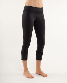 Great for yoga and running-the waistband is snug enough to hold you in, but still let's you breathe!