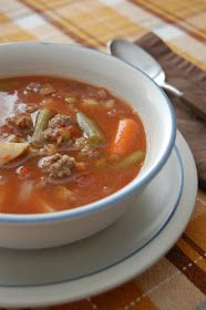 Farmhouse Hamburger Soup  8 servings   oil  ½ onion, chopped fine  1 pound ground beef   2 cans petite diced tomatoes  1 can corn, dr...