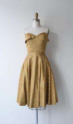 b093079fa0 Adele Simpson brocade dress 1960s dress gold brocade 50s | Etsy Gold  Brocade Dress, Brocade