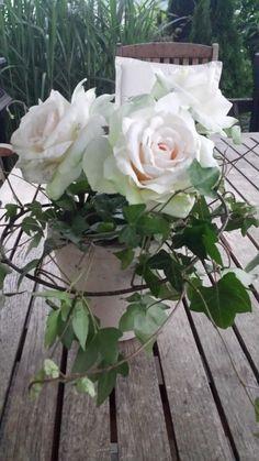 Tisch-Deko Kunstblumen Rosen Topf Efeu Hochzeit Deco, Bloom, Spring Summer, World, Floral, Flowers, Plants, Inspiration, Dessert