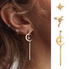 Fashion Charms Femme Fille Fête Topaz Crystal Rose Gold Filled Hoop Boucles d/'oreilles