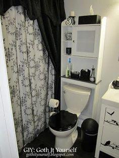 black old world decorative bathroom set ~ | gothic décor