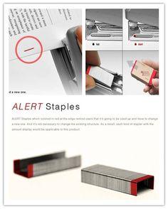 Alert Staples, simple but very useful design.
