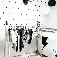 I like this idea of a clothing rack for a kids room