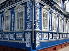 blue house - Russia