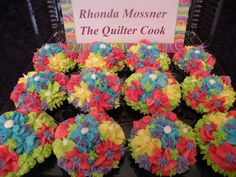 The Quilter Cook's Tye Dye Me! Cupcakes