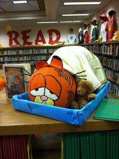 Garfield pumpkin I painted