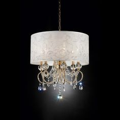 Aurora Barocco Crystal Ceiling Lamp Gold 24.5 - Ore International