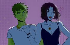 Beastboy x Raven The judas ConTract ╮(─▽─)╭